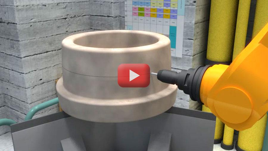Universal Metrology Automation also opens the doors to Adaptive Manufacturing, where depending on the results of the 3D scan, the robot can mark or scribe on the surface of the part to mark positions, notes or metrology results.