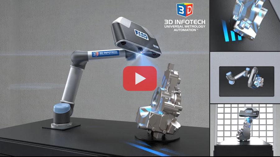 Universal Robot UR5 and Faro Cobalt working together thanks to Streamline software